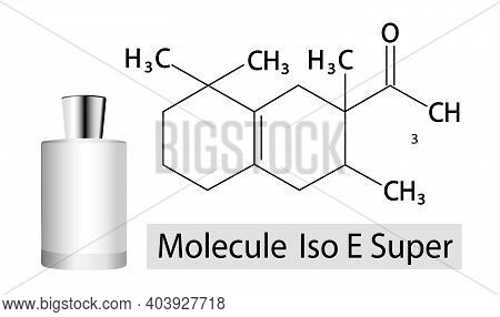 Chemical Formula Of Synthetic Aromatic Chemical, Also Known Alternatively As Patchouli Ethanol. Iso
