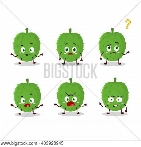 Cartoon Character Of Soursop With What Expression
