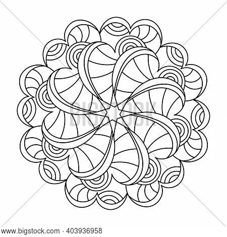 Mandala. Adult Coloring Book. Anti Stress Pattern. Shape For Coloring. Floral Oriental Coloring Page
