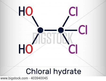 Chloral Hydrate. Geminal Diol, Anesthetic Molecule. A Synthetic Monohydrate Of Chloral, Hypnotic And