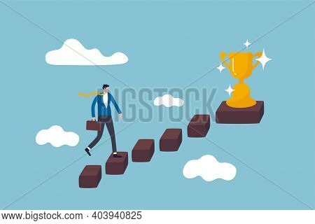 Success In Business, Career Opportunity Or Business Growth To Reach Target Concept, Smart Successful