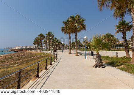 Promenade Paseo Playa Flamenca Spain South Of Torrevieja Spanish Walkway