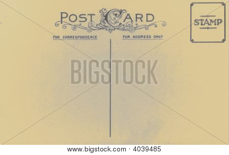 Vintage Antique 1905 Postcard Blank