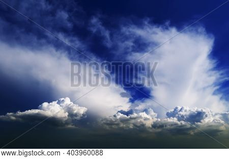 Beautiful Breathtaking Landscape - Cloudy Sky On A Summer Day