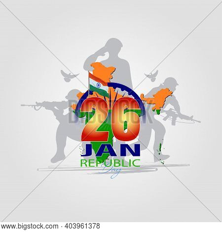 Vector Illustration For Happy Republic Day Of India Celebration (26 January)