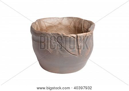 Ceramic Products Of Foremen Of Russian North. Isolated On White Background