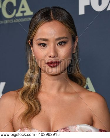 LOS ANGELES - FEB 06:  Jamie Chung arrives for FOX Winter TCA 2019 on February 06, 2019 in Los Angeles, CA