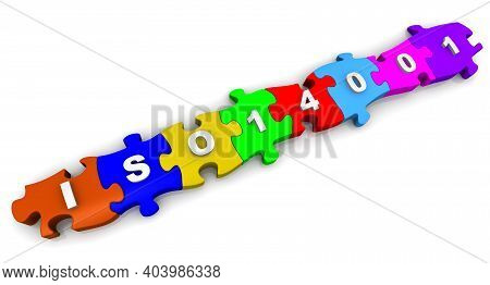 Iso 14001 Abbreviation On Puzzles. The Abbreviation Iso 14001 (sets Out The Criteria For An Environm