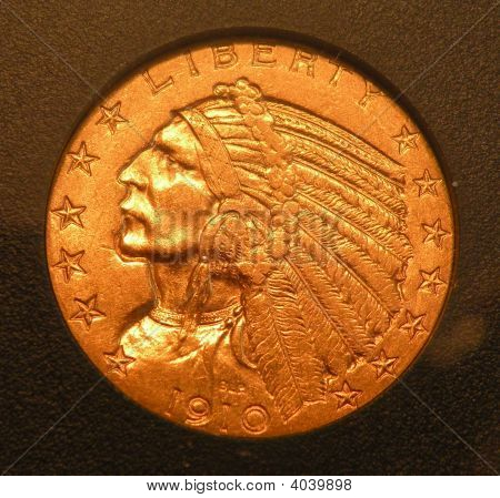 Gold Indian Coin