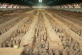 Qin dynasty Terracotta Army in Xi'an China poster
