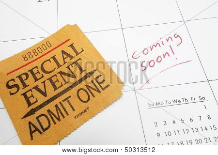 Coming Soon Ticket