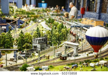 Saint Petersburg, RUSSIA - August 25: Fragment Big Grand Maket Russia, St. Petersburg 25, 2013 in Russia. Grand Maket Russia the world's largest model of Russia from Kaliningrad to the Far East.