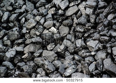 Pile Of Black Coal