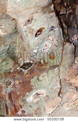 Beautiful Gemstones In The Mine