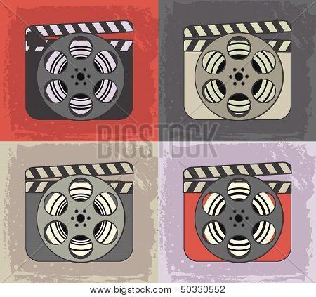Grunge retro cinema icons