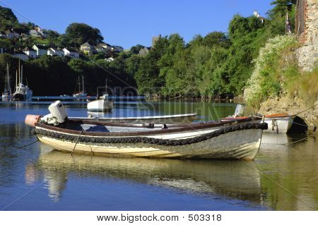 Small Boat In Village Harbour