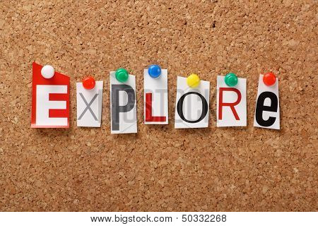 The word Explore