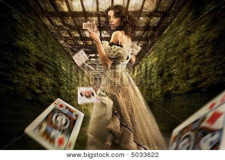Vintage female magician