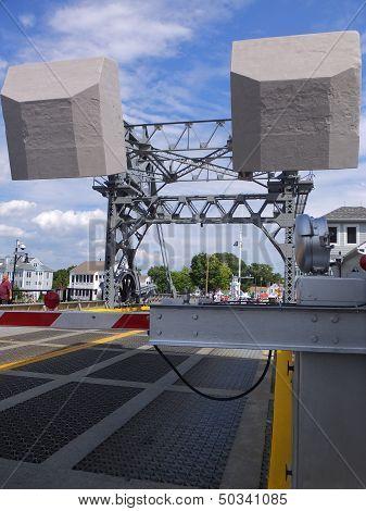 The Mystic River Bascule Bridge in Mystic, Connecticut