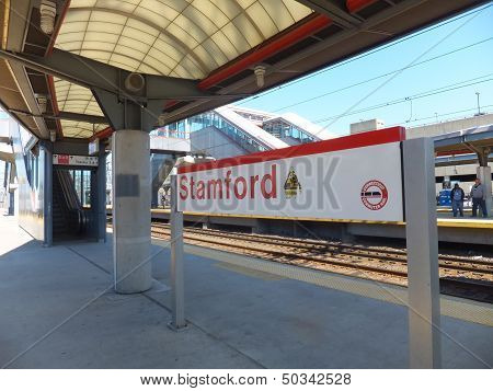 The Stamford Metro-North Railroad in Connecticut