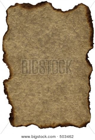 Grunge Vintage Paper: Burnt Brown