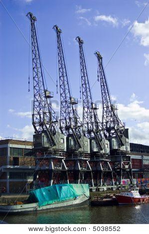 Four Harbour Cranes