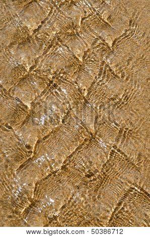 Sea ripple texture against sand