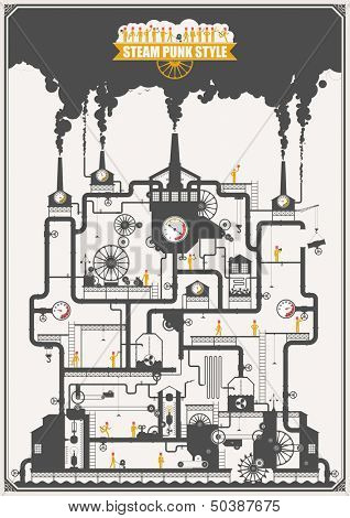 Steam punk style - factory