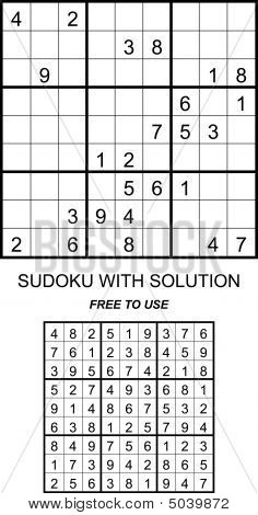 Sudoku With Solution Free To Use
