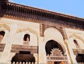 The Bou Inania Madrasa built by the Marinid sultan Abu Inan Faris in 1351 in the old medina of Fes Morocco Africa poster