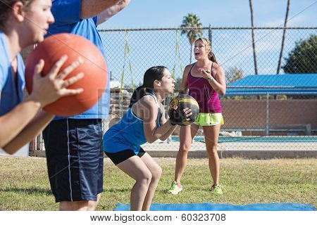 Group Training With Medicine Ball