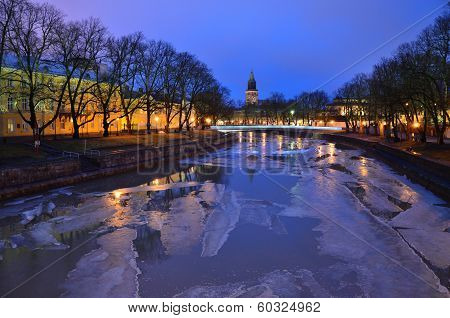 Purple Twilight In Turku, Finland