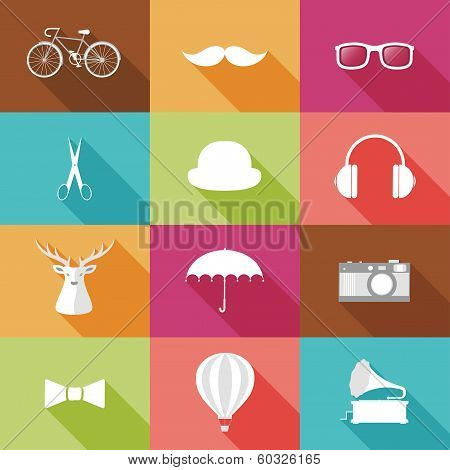 Set Of Hipster Objects.