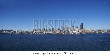 Panorama - Seattle Waterfront Skyline
