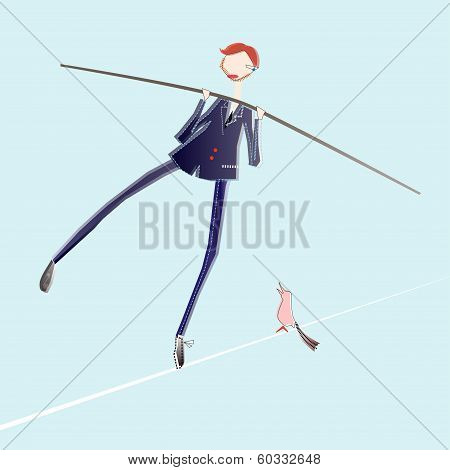 Tightrope Business Man