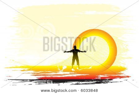sun set background