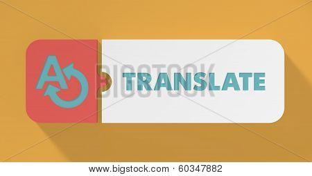 Translate Concept in Flat Design.