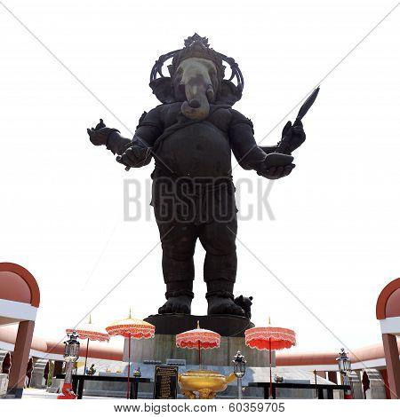 Big Bronze Statue Of Hindu God Ganesh