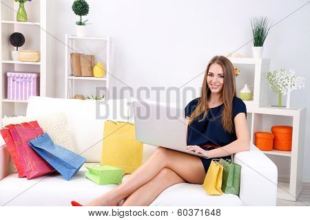 Conceptual photo of on line shopping