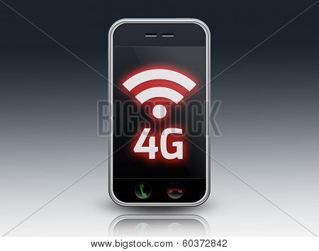 "Smartphone with ""lte / 4G""  wording ! poster"