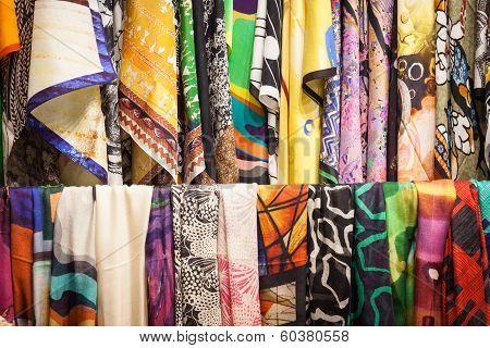 Detail Of Elegant Fabrics At Mipap Trade Show In Milan, Italy