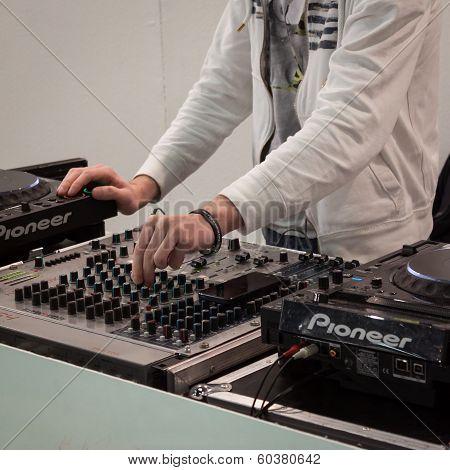 Dj Set At Mipap Trade Show In Milan, Italy