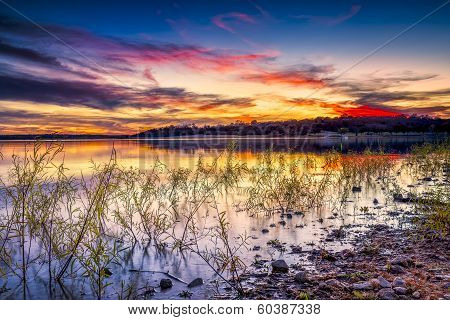 Sunset Over Benbrook Lake
