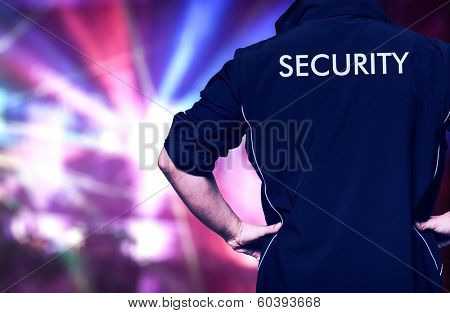 Bouncer at work in a discotheque