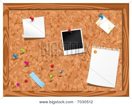 Corkboard with stationery