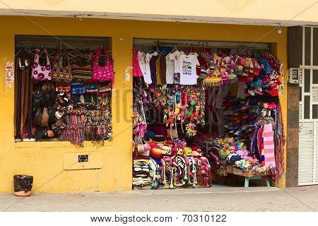 Souvenir Shop in Banos, Ecuador