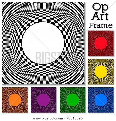 Op Art Design Patterns With Frame