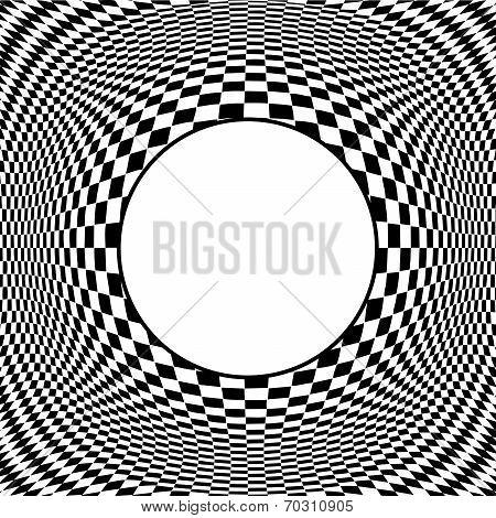 Op Art Design Pattern With Frame