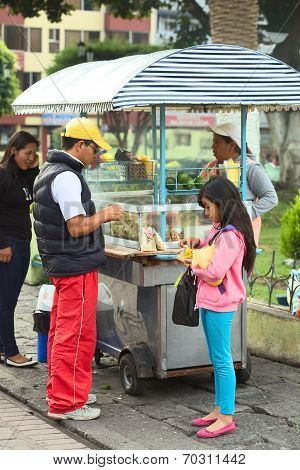 Snack Stand in Banos, Ecuador