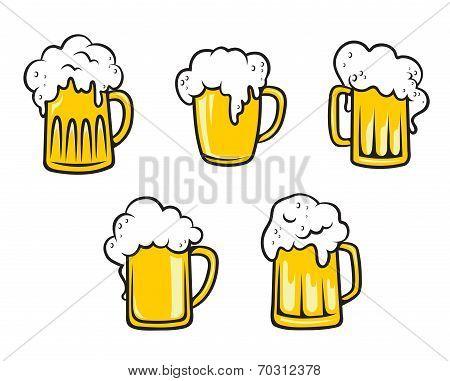 Glass beer tankards